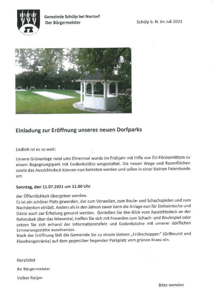 Eröffnung Dorfplatz 2021